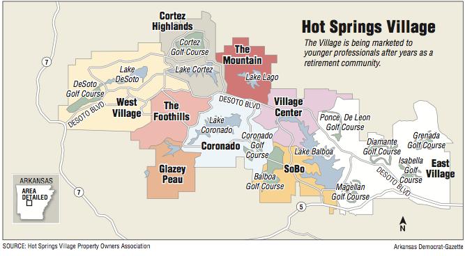 Map Showing Hot Springs Village