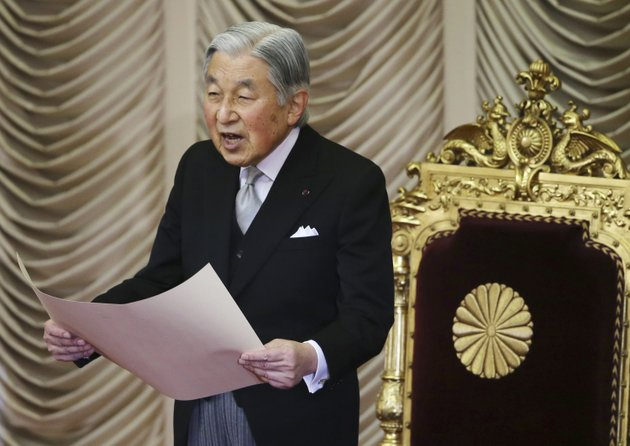 file-in-this-friday-jan-20-2017-file-photo-japans-emperor-akihito-reads-a-statement-to-formally-open-the-ordinary-diet-session-at-the-upper-house-of-parliament-in-tokyo