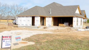 Keith Bryant/The Times of Northeast Benton CountyA home in Maple Glen III, near Slack Street and Ross Salvage Road, is still under construction but already sold.
