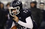 Greenwood quarterback Connor Noland runs during the Class 6A Championship Game against Russellville on Saturday, Dec. 3, 2016, at War Memorial Stadium in Little Rock.