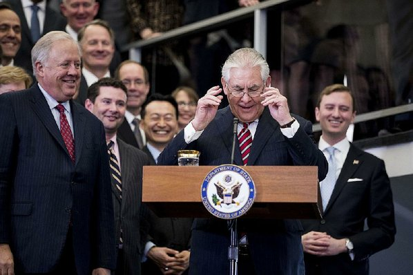 STATE DEPARTMENT Rex Tillerson sworn in as top USA  diplomat
