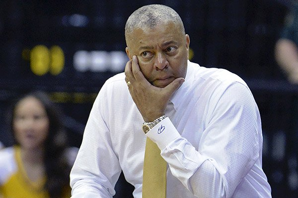 LSU head coach Johnny Jones watches play on the far end of the court in the second half of an NCAA college basketball game, Wednesday, Jan. 25, 2017, in Baton Rouge, La. Florida won 106-71. (AP Photo/Bill Feig)
