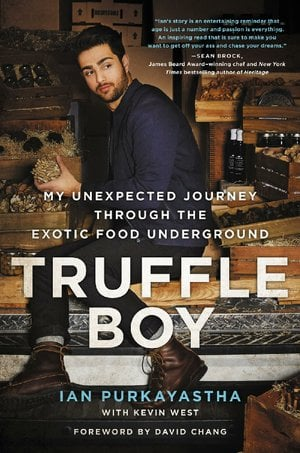 "Book cover for Ian Purkayastha's ""TRUFFLE BOY"""