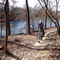 The soft-surface loop trail around Lake Fayetteville is ideal for riders new to mountain biking, but...