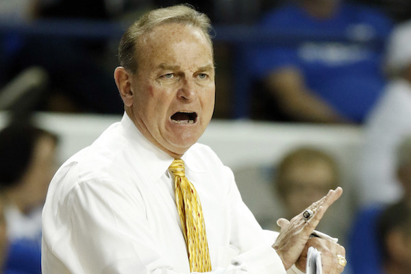 Mississippi State head coach Vic Schaefer urges his team ...