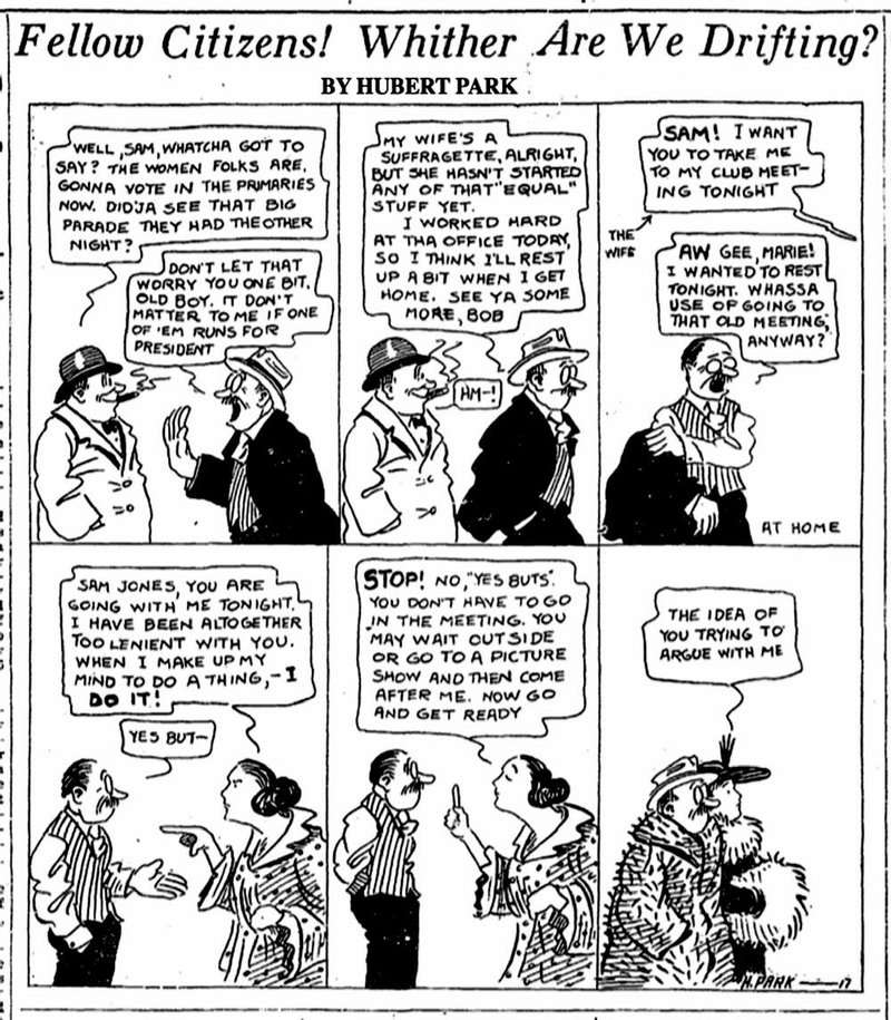 woman s place was at polls as of 1917 Take It with You Internet