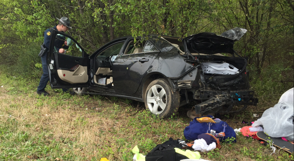 Photos 2 Ejected After Stolen Car In High Speed Chase Crashes Near I