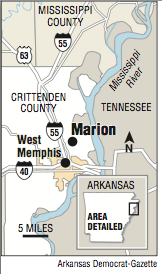 A map showing the location of Marion.