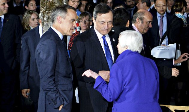 federal-reserve-chairman-janet-yellen-speaks-with-mark-carney-left-governor-of-the-bank-of-england-and-mario-draghi-president-of-the-european-central-bank-during-the-g-20-finance-ministers-meeting-saturday-in-baden-baden-germany