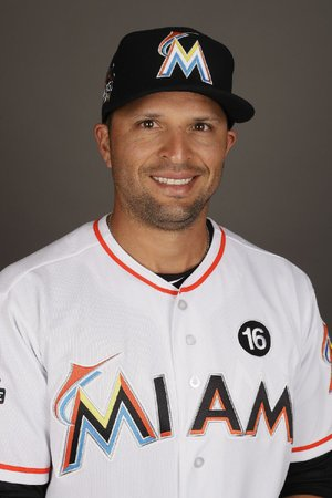 This is a 2017 photo of Martin Prado of the Miami Marlins.