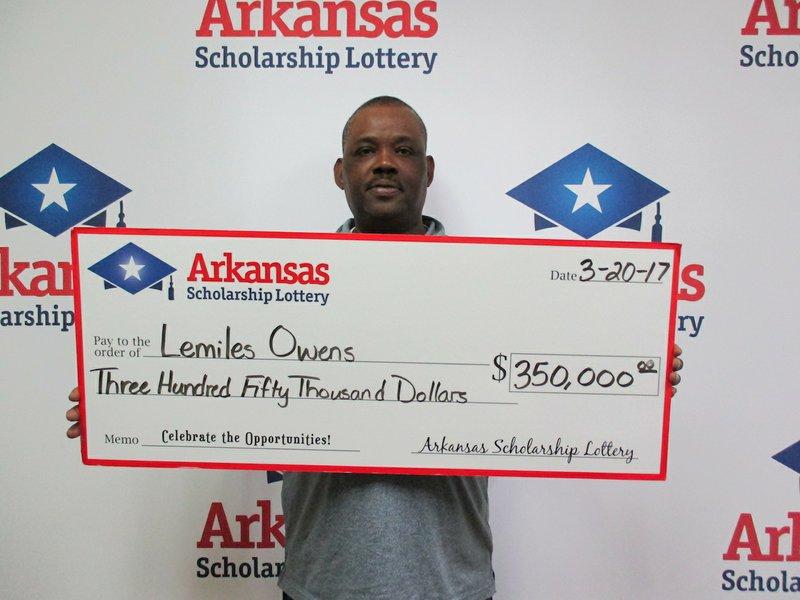 Arkansas man wins $350,000 off $10 lottery ticket