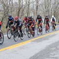 A pack of riders heads south between West Fork and Winslow on U.S. 71. The highway is popular for bi...