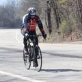 A rider reaches the summit of Mount Gaylor near Winslow. The 71-mile route of the Highway 71 Classic...