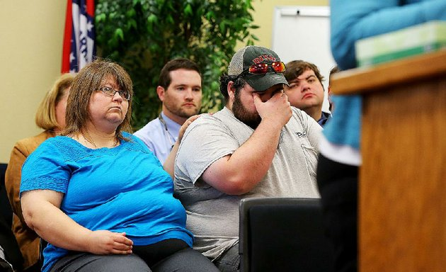 melissa-cassidy-left-comforts-her-nephew-jonathan-erickson-during-testimony-about-death-row-inmate-stacey-johnson-at-a-parole-board-hearing-friday-in-little-rock-johnson-killed-carol-heath-cassidys-sister-and-ericksons-mother-in-1993