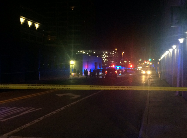 police-investigate-an-officer-involved-shooting-sunday-morning-in-downtown-little-rock