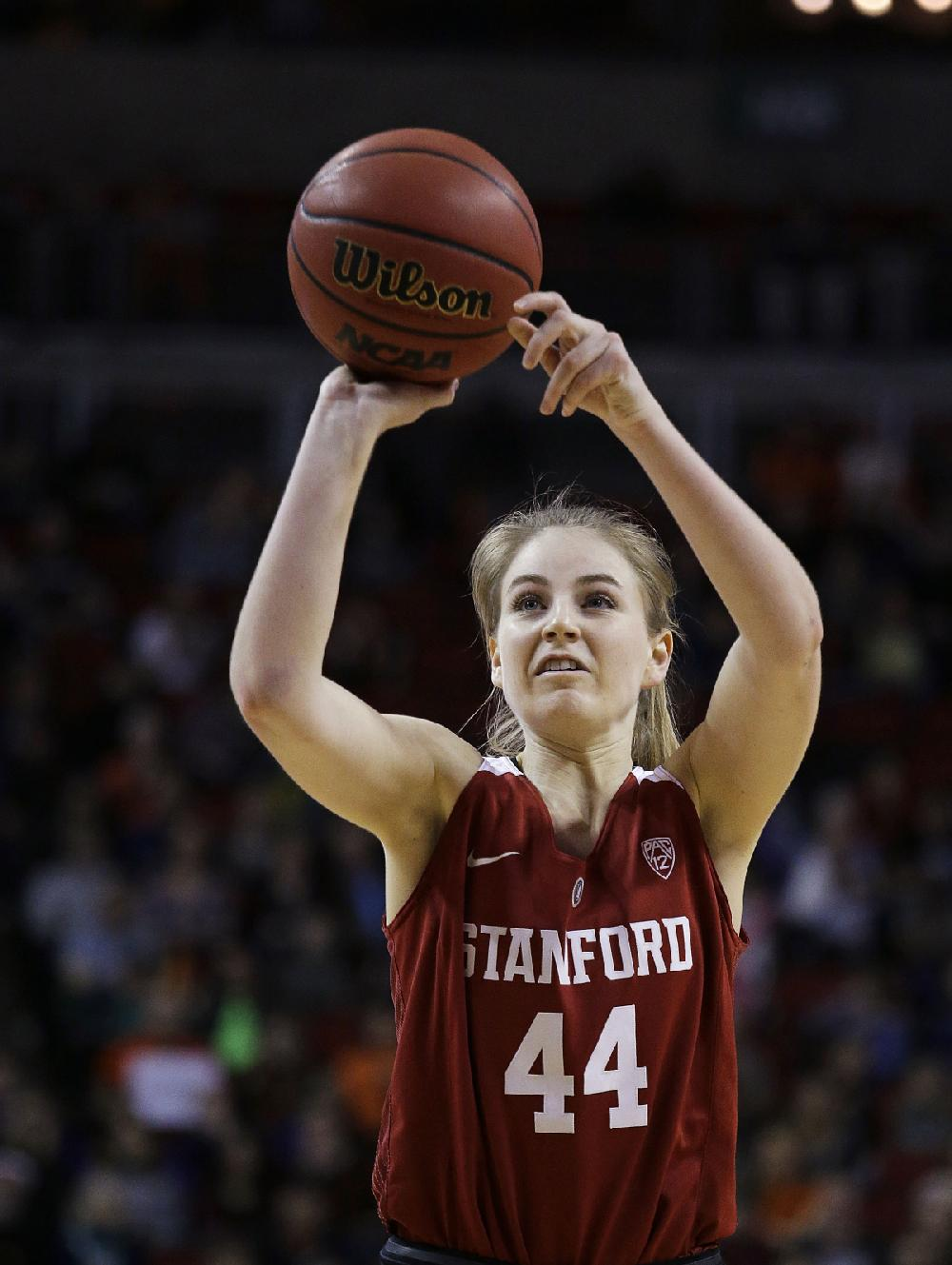 Stanford's Karlie Samuelson shoots a free throw against ...
