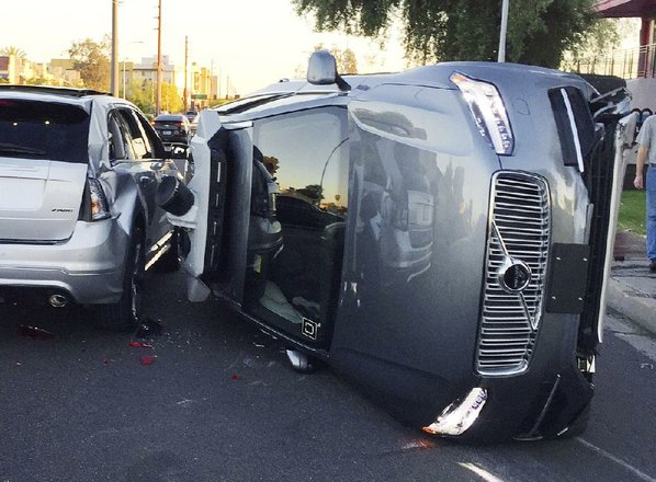 Self-driving vehicle crash comes amid debate about regulations