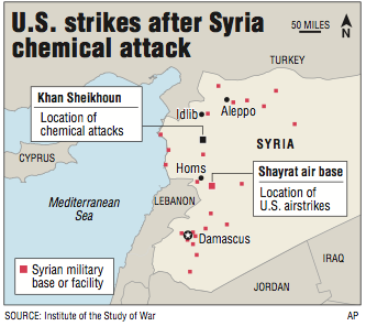 Allies Back US Strike Russia Vexed - Map of us allies and enemies 2017