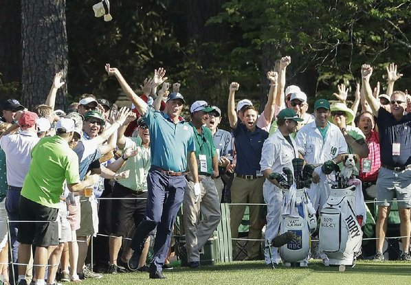 Sergio Garcia, Augusta Masters victor, hits shot off a tree, watch video