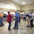 Sue Lambert and Jim Gideon (second from left) dance Thursday along with William and Donna Green (sec...