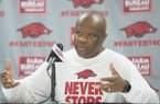 Arkansas men's basketball media day and open practice on Wednesday, Oct. 5, 2016, at Bud Walton Arena in Fayetteville.