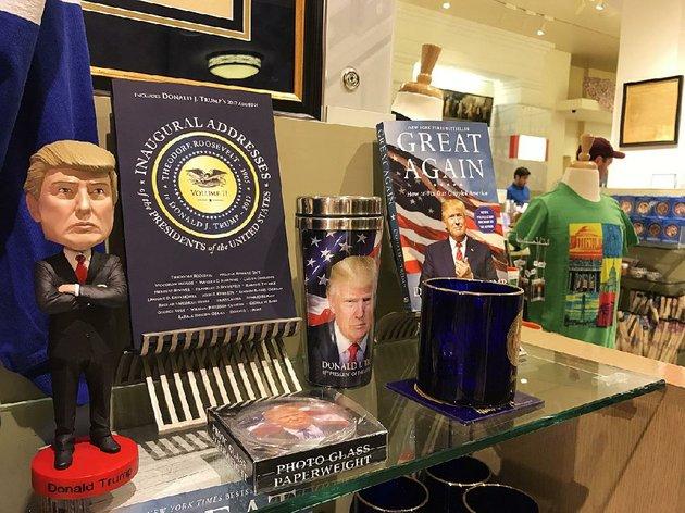 At D.C. gift shops, Trump stuff flying