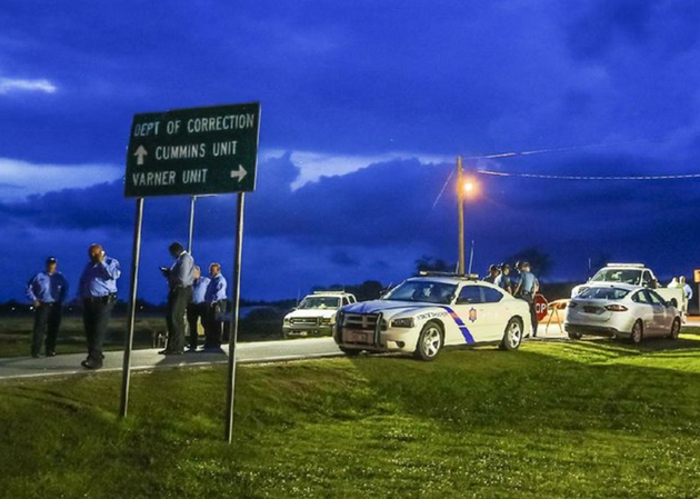 the-sun-sets-behind-clouds-over-an-arkansas-state-police-command-post-outside-the-varner-unit-near-grady-on-monday-evening-as-officials-await-word-on-the-status-of-an-execution-stay-for-condemned-inmate-don-davis