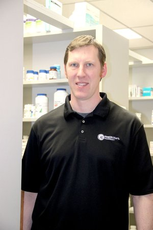 LYNN KUTTER ENTERPRISE-LEADER Luke Hall, owner and pharmacist of Bell Pharmacy in Lincoln, will change jobs in June and be the pharmacist for the new Harps Food Store in Lincoln.