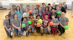Comiskey's class sixth-grade champions Photo submitted Karen Comiskey's sixth-grade class won the championship for Siloam Springs Intermediate School's dodgeball intramurals.