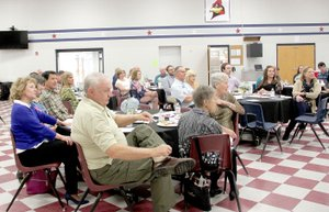 About 55 people attended the Chamber's annual banquet, held at Lynch Middle School in Farmington.