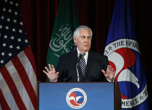 secretary-of-state-rex-tillerson-speaks-wednesday-at-the-us-saudi-arabia-ceo-summit-in-washington-earlier-tillerson-said-the-iran-nuclear-treaty-only-delays-irans-goal-of-becoming-a-nuclear-state