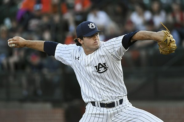 Auburn ace who leads SEC scratched from Arkansas start