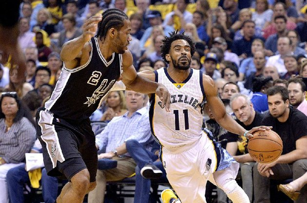 memphis-guard-mike-conley-right-tries-to-get-around-san-antonio-forward-kawhi-leonard-during-game-3-of-their-nba-western-conference-playoff-series-thursday-the-grizzlies-led-by-as-many-as-22-points-in-beating-the-spurs-105-94