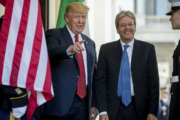 president-donald-trump-greets-italian-prime-minister-paolo-gentiloni-as-he-arrives-thursday-at-the-west-wing-of-the-white-house