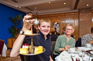 Teenagers can appreciate Europe's finer things, such as afternoon tea at London's Mayfair Hotel.