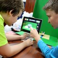 Adam Teakell (left), and Brayden Hamilton, both sixth-graders at Sonora Middle School, work Friday o...