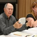 Bill Ackerman, chairman of the Washington County Election Commission, speaks Wednesday, April 19, 20...