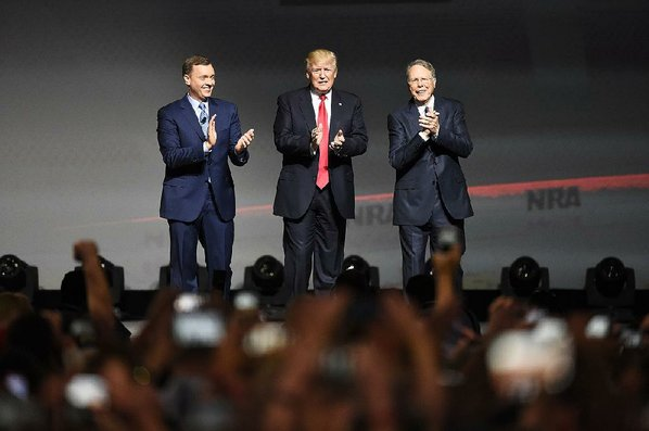 No guns allowed at Trump's speech before NRA
