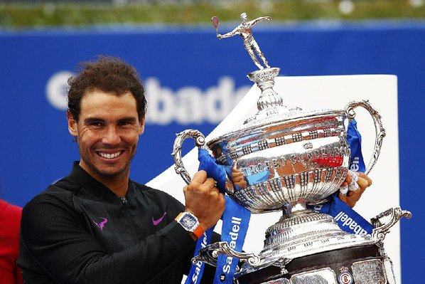 Nadal tames Thiem for 10th Barcelona title