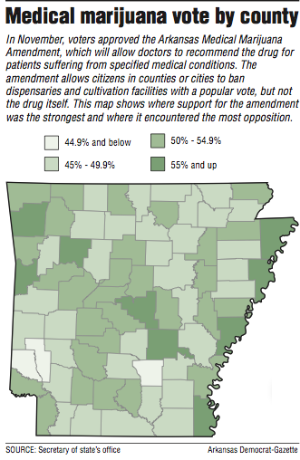 At local level, marijuana getting mixed reception in Arkansas