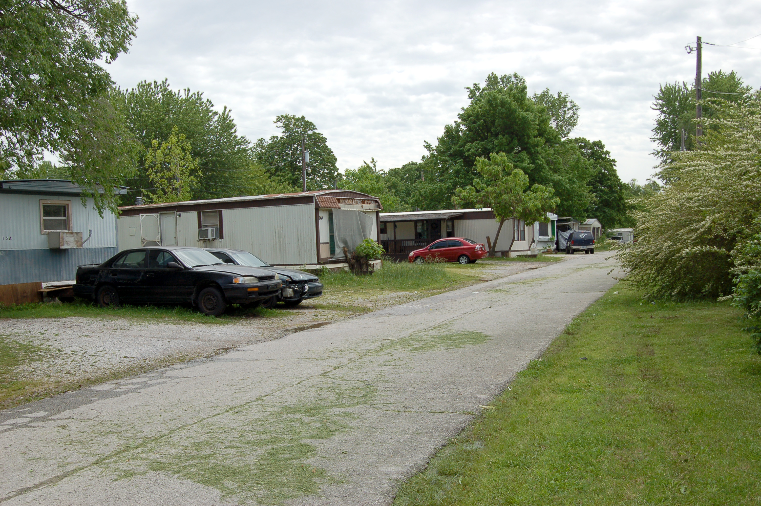 A Trailer Park With About 50 Mobile Homes Can Be