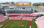 An artist's rendering shows how a proposed $160 million renovation to the north end of Razorback Stadium might look. The renovation is scheduled to be complete by the 2018 football season.