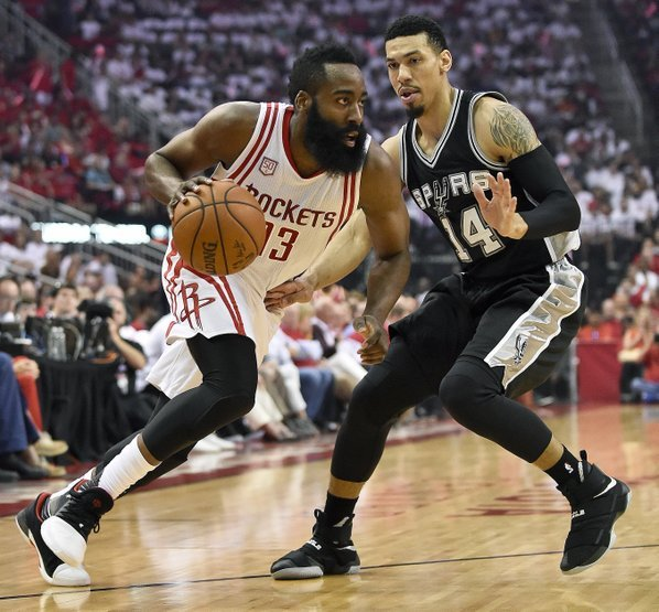 Harden, Rockets rout Spurs 125-104 to tie series