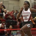 University of Arkansas runner Daina Harper competes in the 400 meter dash Saturday, January 28, 2017...