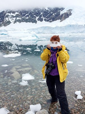 On the cover: Artist Diane Burko documents the effects of climate change on glaciers through her paintings and photography.