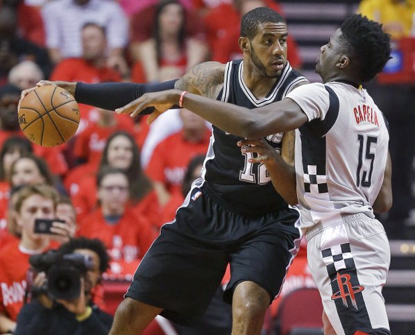 Rampant Spurs down Rockets to seal Conference Finals spot