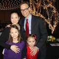 Suzette and Paul Haas and daughters Ciel (left) and Lumi attend the Spring Gala.