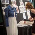 Department of theater designers displayed their work outside the banquet hall at Saturday night's ev...
