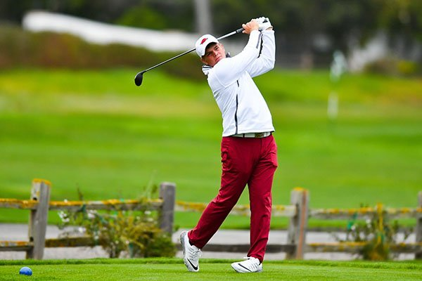 Arkansas' Mason Overstreet tied for the second-best round of the NCAA regional in Baton Rouge, La.