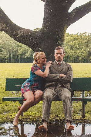 Amy Brock and Johnny Passmore play newlyweds in Red Curtain Theatre's production of Neil Simon's Barefoot in the Park.